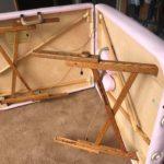 ゴールデンレシオの脚部分とベッドの内側